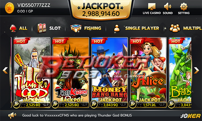 Deposit Game Slot Joker123
